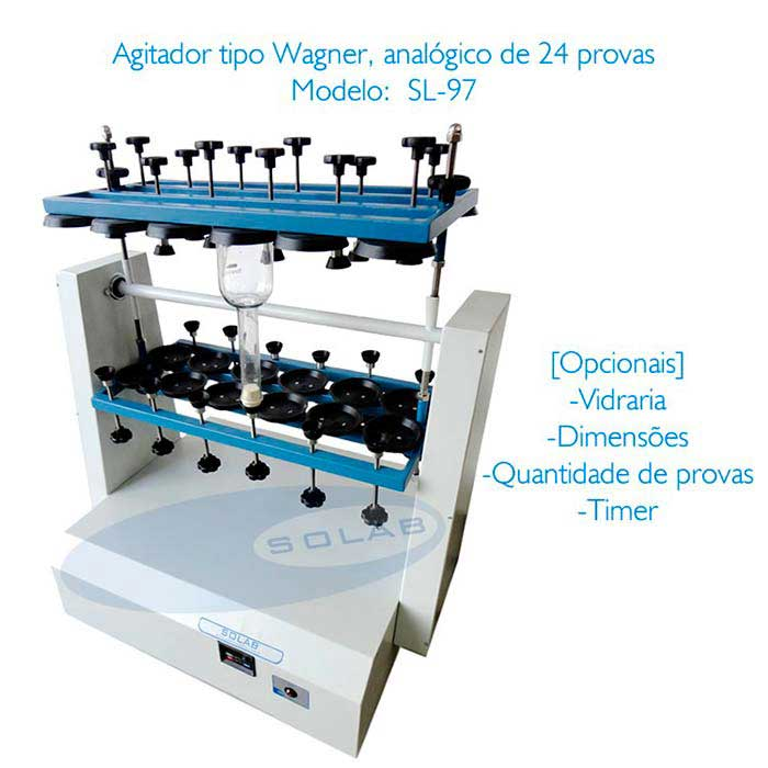 Agitador rotatório tipo wagner