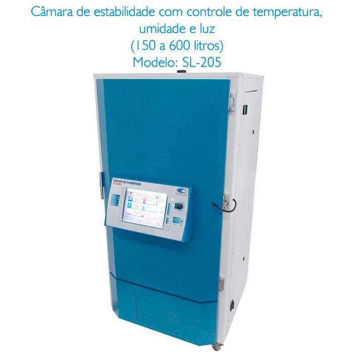 Câmara climática com controle de umidade relativa e temperatura