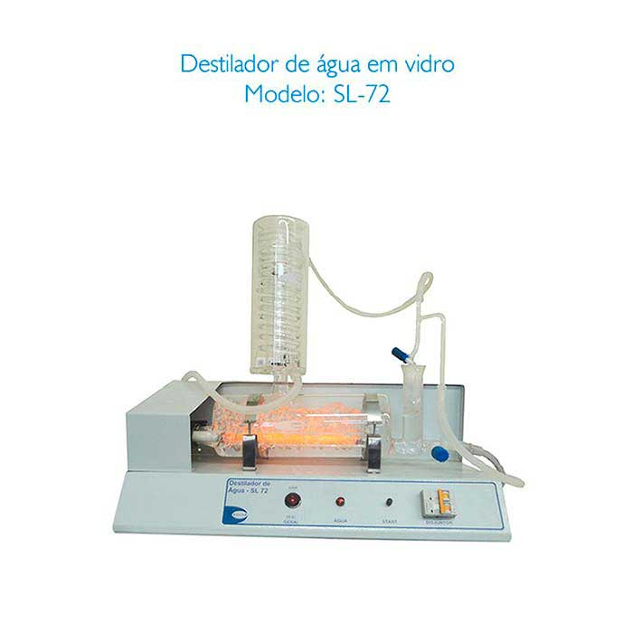 Destilador de água para laboratório
