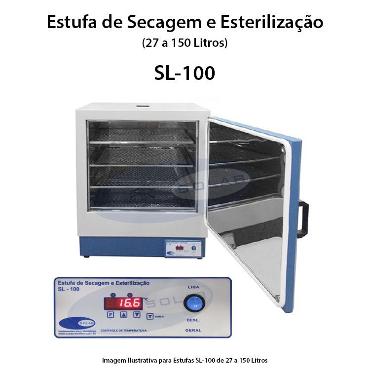 Estufa de esterilização e secagem para laboratório