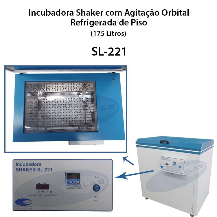 Incubadora shaker refrigerada de piso
