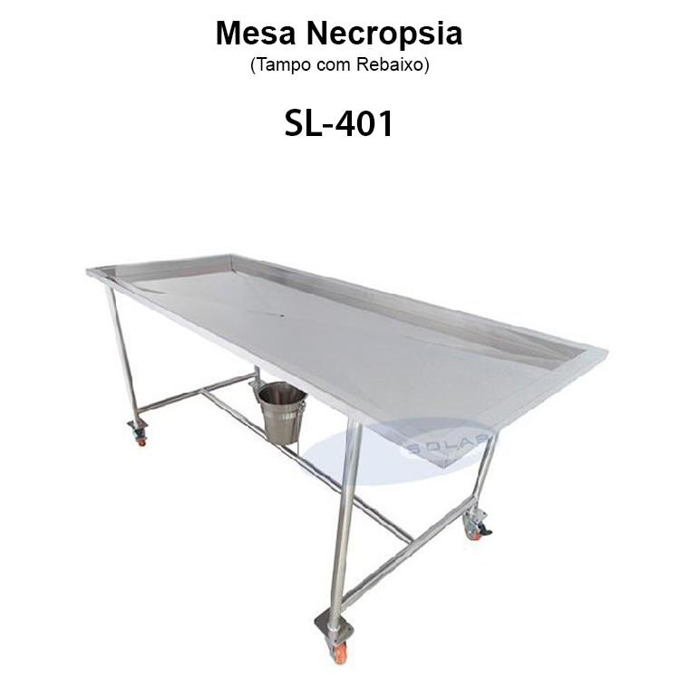 Mesa necropsia inox