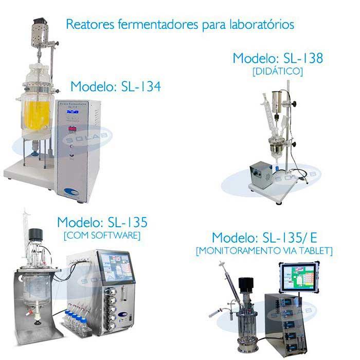 Reator fermentador biorreator para laboratório