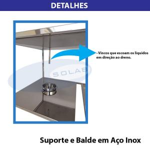 SL-407/I - Mesa para Dissecação com Prateleira Inferior Gradeada