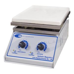 SL-95 - Agitador Magnético Analógico (Com Aquecimento - Plataforma Piroceramica)