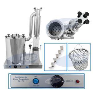 SL-76/I - Destilador para Óleos Essenciais tipo Clevenger em Inox