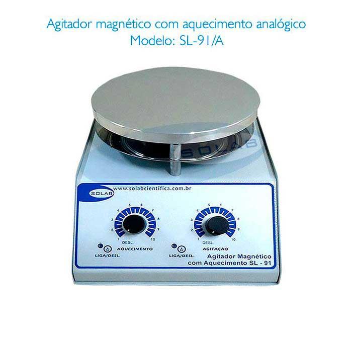 Agitador magnético de laboratório de química