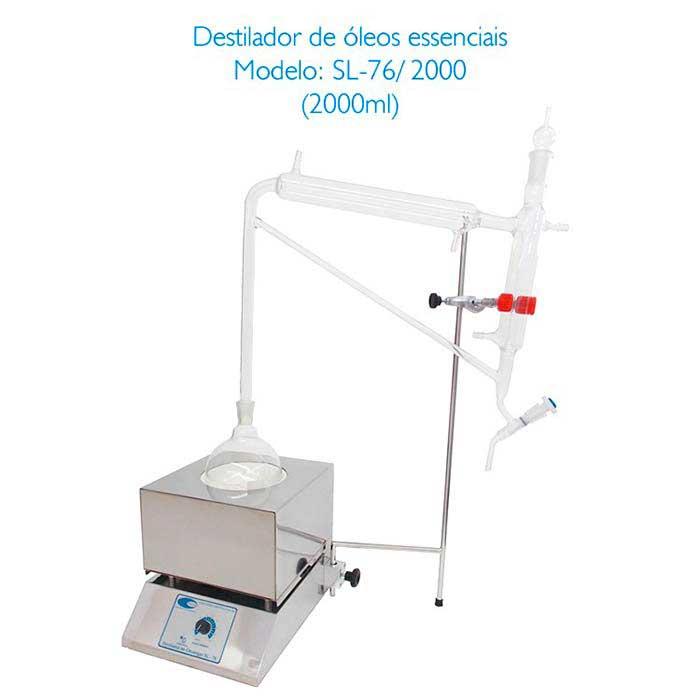 Destilador de óleos essenciais para laboratório