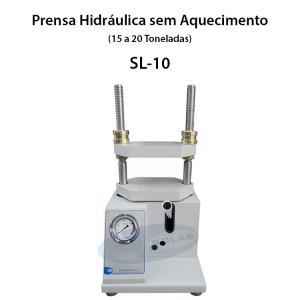 Prensa hidráulica para laboratório
