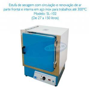 Estufa microprocessada com circulação forçada de ar