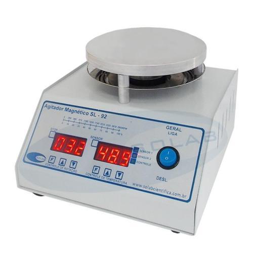 SL-92 - Agitador Magnético Digital (Com Aquecimento)