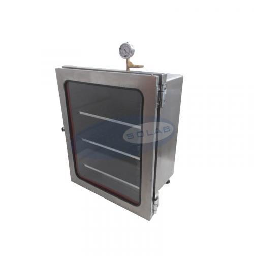 SL-175/60-I - Dessecador a Vácuo em Inox (60 litros)