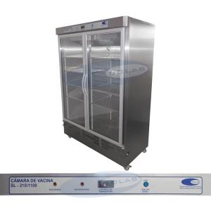 SL-210/1100 - Refrigerador para Vacina em Aço Inox (1100 litros)