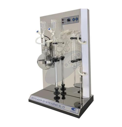 SL-73 - Destilador de Nitrogênio e Proteína com Caldeira Cilíndrica