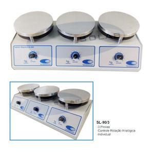 SL-90/3 - Agitador Magnético (Sem Aquecimento - 3 Provas)