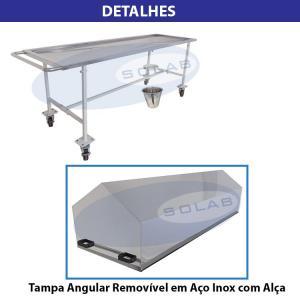 SL-408 - Mesa para Transporte de Cadáver com Tampa