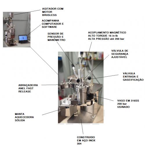 SL-132/1E  Reator Alta Pressão Bancada