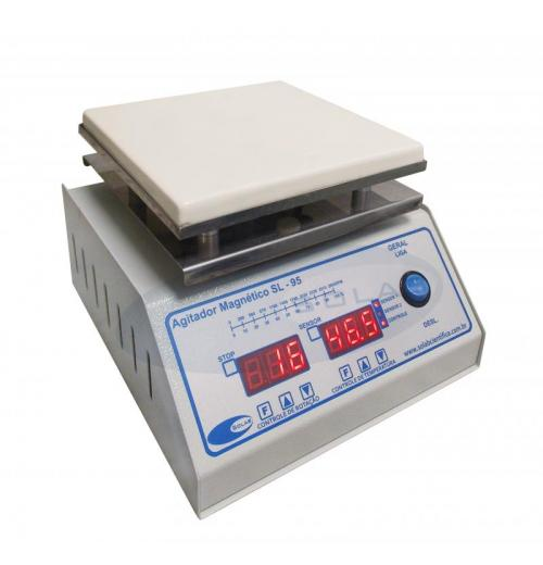 SL-95/D - Agitador Magnético Digital (Com Aquecimento - Plataforma Piroceramica)