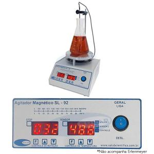 SL-92/H - Agitador Magnético Digital (Com Aquecimento e Sensor Externo)
