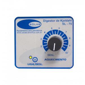 SL-75/6 - Destilador de Nitrogênio Kjeldahl para balão 500 ou 800 ml