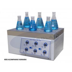 SL-90/6 - Agitador Magnético Analógico (Sem Aquecimento - 6 Provas)