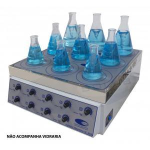 SL-90/9 - Agitador Magnético Analógico (Sem Aquecimento - 9 Provas)